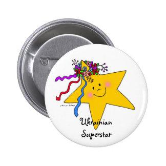 Ukrainian Superstar Pinback Buttons