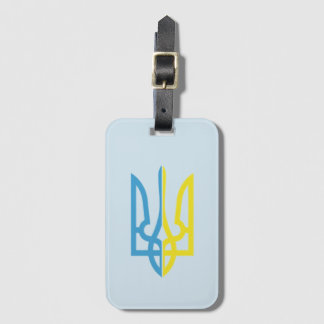 Ukrainian Tryzub Blue/Yellow Luggage Tag
