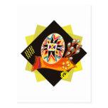 Ukranian Painted Egg Postcard
