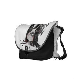 Ukulele (Abstract/Paint Splattered) Commuter Bags
