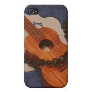 Ukulele and Kukui Nut Lei Case iPhone 4 Case