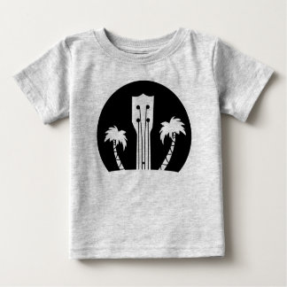 Ukulele and Palm Trees Baby T-Shirt