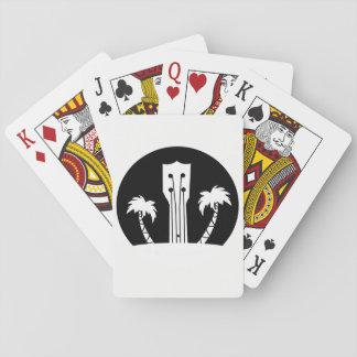 Ukulele and Palm Trees Playing Cards