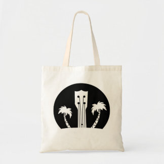 Ukulele and Palm Trees Tote Bag