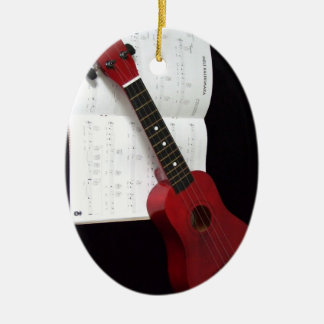 Ukulele and Songbook Christmas Ornament