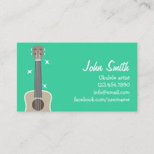 Music artist business cards business card printing zazzle uk ukulele artist cute music business card colourmoves