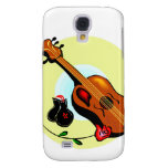 Ukulele Castanets Rose Design Graphic Musical Galaxy S4 Cover