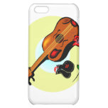 Ukulele Castanets Rose Design Graphic Musical iPhone 5C Cases