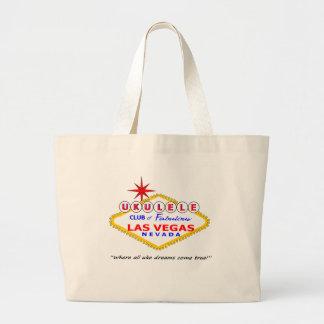 Ukulele Club of Las Vegas large tote Canvas Bags