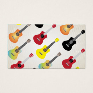 Ukulele Colorful Patterns Uke Artist Business Card