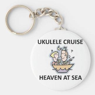 Ukulele Cruise Basic Round Button Key Ring