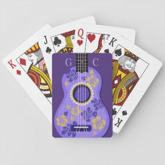 Ukulele custom monogram playing cards