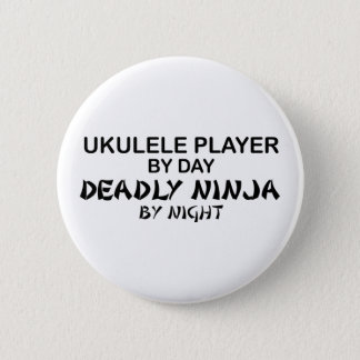 Ukulele Deadly Ninja by Night 6 Cm Round Badge