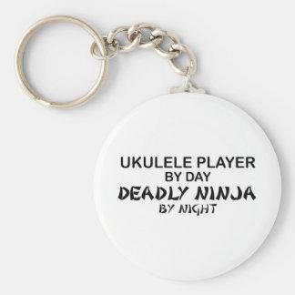 Ukulele Deadly Ninja by Night Key Ring