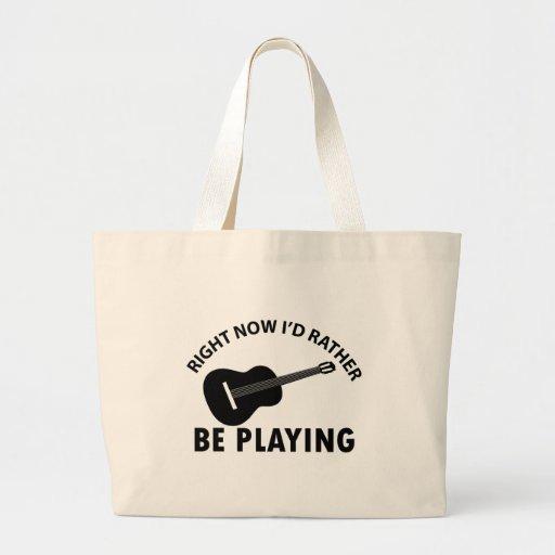 ukulele design canvas bag