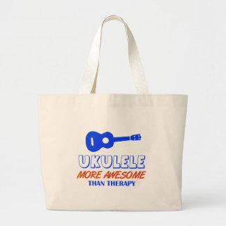 Ukulele design canvas bags