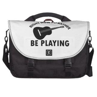 ukulele design laptop messenger bag