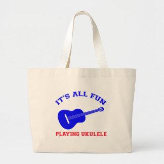 Ukulele Designs Canvas Bag