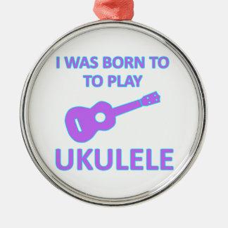 Ukulele Designs Christmas Ornament