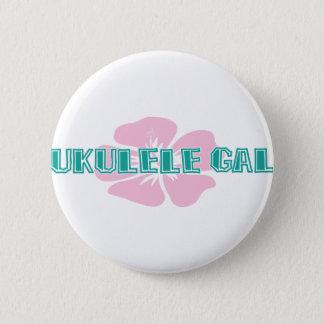 Ukulele Gal 6 Cm Round Badge
