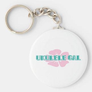 Ukulele Gal Key Ring