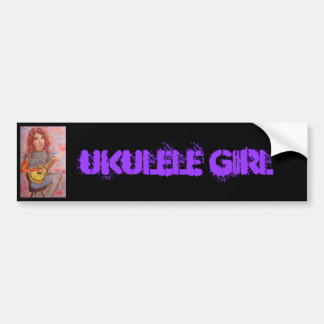Ukulele Girl Bumper Sticker