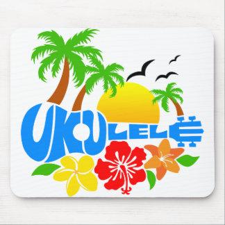 Ukulele Island Logo Mouse Mat