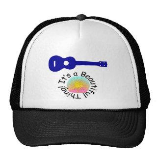 Ukulele It s a Beautiful Thing Hats