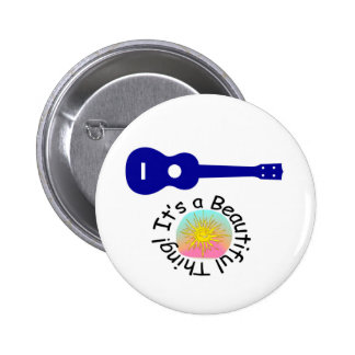 Ukulele: It's a Beautiful Thing 6 Cm Round Badge