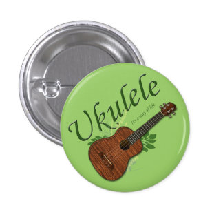 Ukulele-Its a way of life Small Button