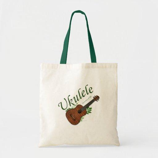 Ukulele-Its a way of life Tote Canvas Bag