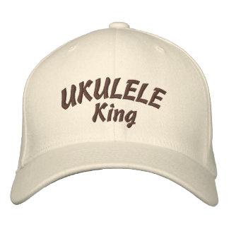 Ukulele King Embroidered Hat