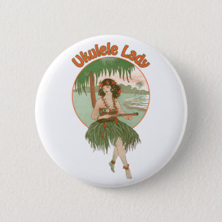 Ukulele Lady #1 Button