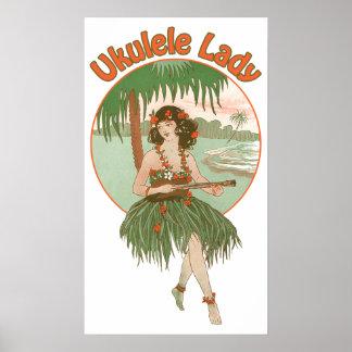 Ukulele Lady #1 Poster