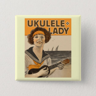 Ukulele Lady #2 Button