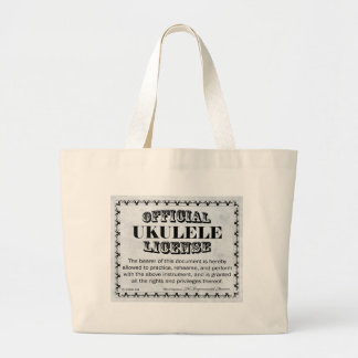 Ukulele License Large Tote Bag