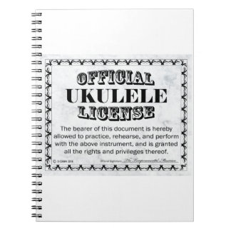 Ukulele License Notebook