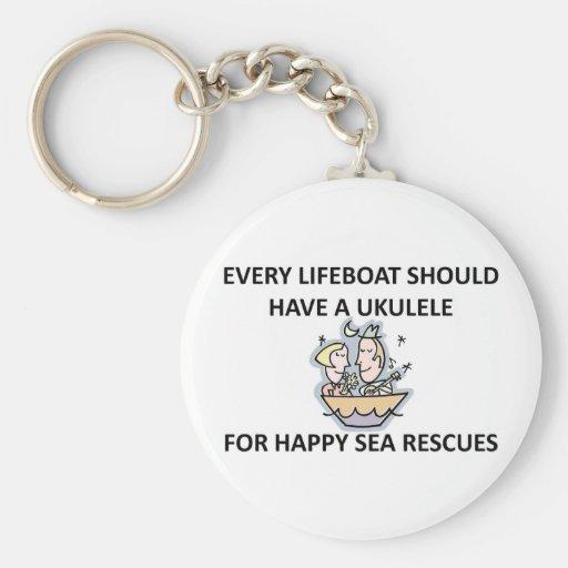 Ukulele Lifeboat Keychains