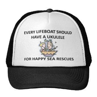 Ukulele Lifeboat Mesh Hat
