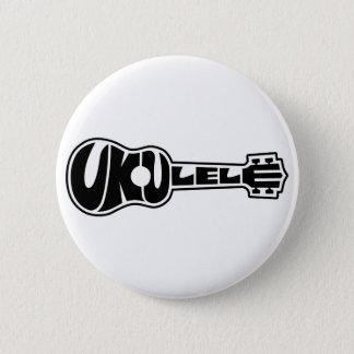 Ukulele Logo 6 Cm Round Badge