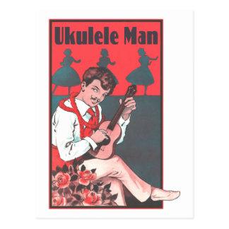 Ukulele Man Postcard