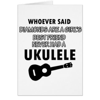 Ukulele musical instrument designs card