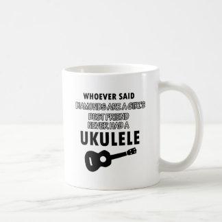 Ukulele musical instrument designs coffee mug