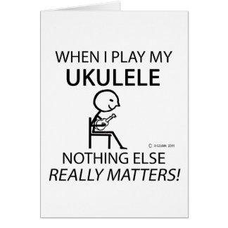 Ukulele Nothing Else Matters Card