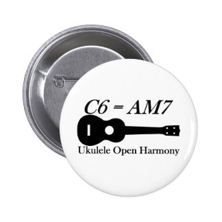 Ukulele Open Chords 6 Cm Round Badge
