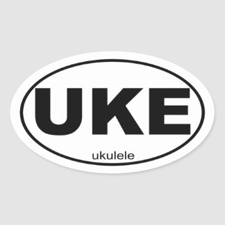 Ukulele Oval Sticker