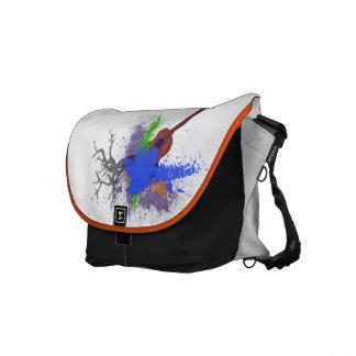 Ukulele - Paint Splatters Messenger Bags