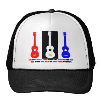 Ukulele Patriotism Hats