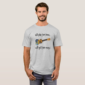 Ukulele - Play for free quit for money T-Shirt