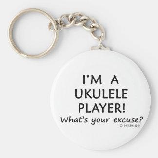Ukulele Player Excuse Basic Round Button Key Ring